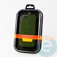 Накладка Kajsa для Apple IPhone 6/7/8 холст зелёный
