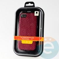 Накладка Kajsa для Apple IPhone 6/7/8 змеиная кожа бордовая