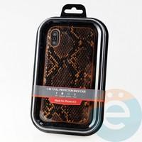 Накладка Kajsa для Apple IPhone XR питон оранжевый