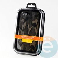 Накладка Kajsa для Apple IPhone 6/7/8+ камуфляж коричневый
