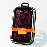 Накладка Kajsa для Apple IPhone 6/7/8+ камуфляж бордовый