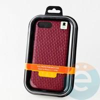 Накладка Kajsa для Apple IPhone 6/7/8+ плетёнка бордовая