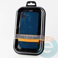 Накладка Kajsa для Apple IPhone X/Xs холст тёмно-синий