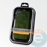 Накладка Kajsa для Apple IPhone X/Xs холст зелёный