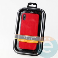 Накладка Kajsa для Apple IPhone X/Xs холст красный