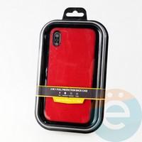 Накладка Kajsa для Apple IPhone Xs Max холст красный