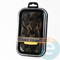 Накладка Kajsa для Apple IPhone Xs Max камуфляж коричневый