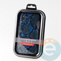 Накладка Kajsa для Apple IPhone XR кожа питона синяя