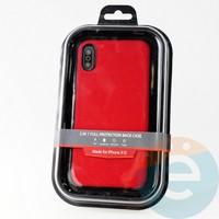 Накладка Kajsa для Apple IPhone XR холст красный