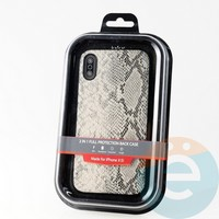 Накладка Kajsa для Apple IPhone XR кожа питона