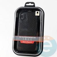 Накладка Kajsa для Apple IPhone XR змеиная кожа черная