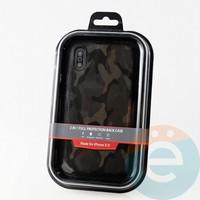 Накладка Kajsa для Apple IPhone XR камуфляж коричневый