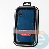 Накладка Kajsa для Apple IPhone XR холст синий