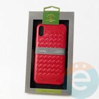 Накладка Santa Barbara Ravel для IPhone XR красная