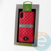 Накладка Santa Barbara Bradley для IPhone X/XS красная