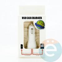 АЗУ USB 3.1A два выхода (белое) тип 3 в упаковке