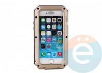 Противоударный чехол Lunatik на iPhone X/Xs золотистый