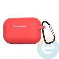Чехол силиконовый для наушников Apple AirPods Pro с карабином Hibiscus