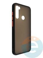 Накладка пластиковая матовая с силиконовой окантовкой для Xiaomi Redmi Note 8T чёрная