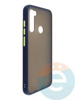 Накладка пластиковая матовая с силиконовой окантовкой для Xiaomi Redmi Note 8T синяя
