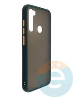 Накладка пластиковая матовая с силиконовой окантовкой для Xiaomi Redmi Note 8T зелёная