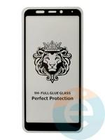 Защитное стекло 5D с полной проклейкой на Xiaomi Redmi 5 чёрное