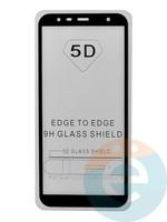 Защитное стекло 5D с полной проклейкой на Samsung Galaxy J4 Pus 2018 чёрное