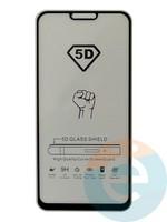 Защитное стекло 5D с полной проклейкой на Xiaomi Mi 8 Lite черное