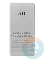Защитное стекло 5D с полной проклейкой на Xiaomi Redmi 6/6A белое