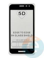 Защитное стекло 5D с полной проклейкой на Samsung Galaxy J2 Core 2019 чёрное