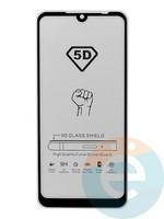 Защитное стекло 5D с полной проклейкой на Xiaomi Redmi 7 черное