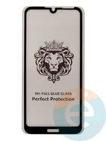 Защитное стекло 5D с полной проклейкой на Huawei Y6 2019/Honor 8A чёрное