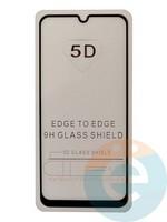 Защитное стекло 5D с полной проклейкой на Samsung Galaxy A20 2019 чёрное