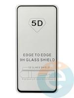 Защитное стекло 5D с полной проклейкой на Samsung Galaxy A80 2019 чёрное