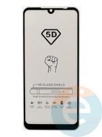 Защитное стекло 5D с полной проклейкой на Xiaomi Redmi Note 7 черное
