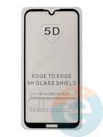 Защитное стекло 5D с полной проклейкой на Huawei Y5 2019/Honor 8S чёрное