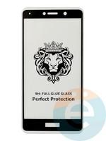 Защитное стекло 5D с полной проклейкой на Huawei Honor 6X чёрное