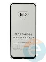 Защитное стекло 5D с полной проклейкой на Huawei Nova 5i чёрное