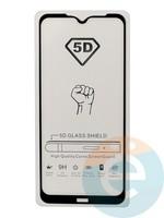 Защитное стекло 5D с полной проклейкой на Xiaomi Redmi Note 8T черное