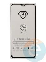 Защитное стекло 5D с полной проклейкой на Xiaomi Redmi Note 8 Pro черное