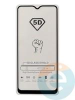 Защитное стекло 5D с полной проклейкой на Samsung Galaxy A20s чёрное