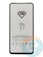 Защитное стекло 5D с полной проклейкой на Huawei Honor 20s чёрное