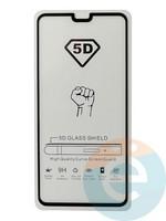 Защитное стекло 5D с полной проклейкой на Huawei Mate 30 чёрное