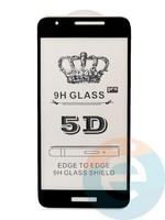 Защитное стекло 5D с полной проклейкой на Samsung Galaxy A2 Core чёрное