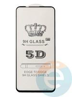 Защитное стекло 5D с полной проклейкой на Huawei Nova 5t чёрное