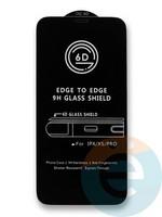 Защитное стекло 6D с полной проклейкой на Apple IPhone X/Xs/11Pro черное