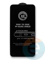 Защитное стекло 6D с полной проклейкой на Apple IPhone Xs Max/11Pro Max черное
