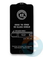 Защитное стекло 6D с полной проклейкой на Apple IPhone 7/8 черное
