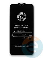 Защитное стекло 6D с полной проклейкой на Xiaomi Redmi 8/8A черное