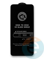 Защитное стекло 6D с полной проклейкой на Huawei Y6 (2019)/Honor 8A черное